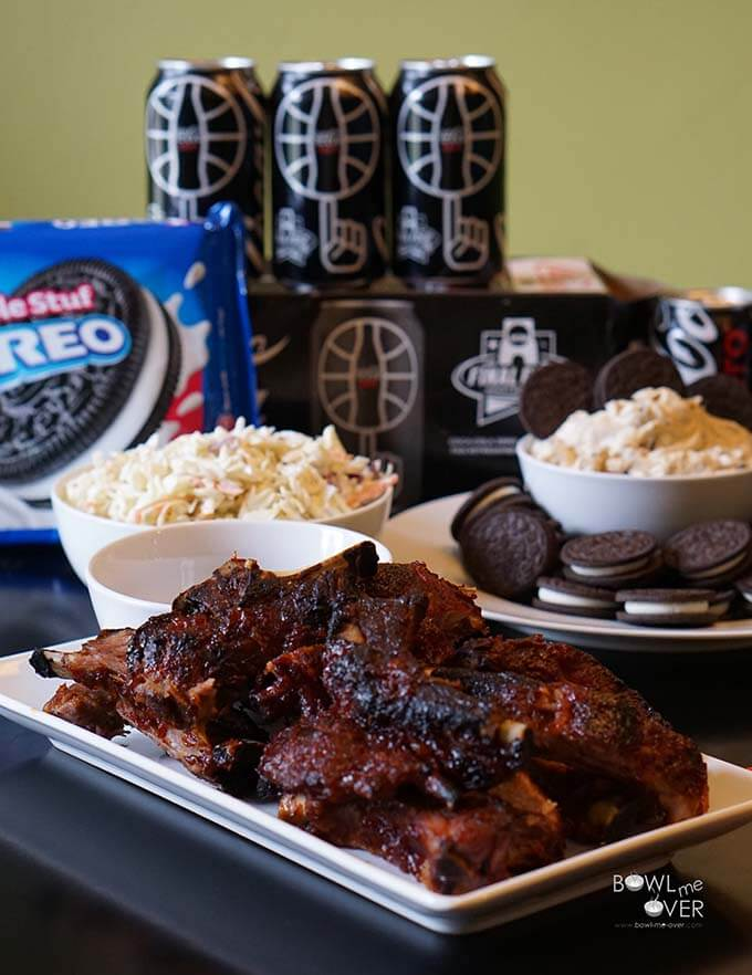 Baby Back Ribs and OREO Cookie Dough Dip - Does that look like the perfect party platter or what?