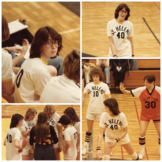 Here's some pics of me playing basketball my Junior year in High School. How about those glasses?!!!