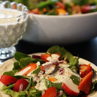 Poppy Seed Salad Dressing and Spinach Salad #MeatlessMonday