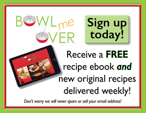 Receive your free recipe ebook and recipes delivered right to your inbox weekly!