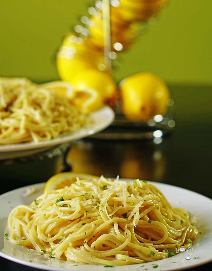Creamy Lemon Pasta #MeatlessMonday #30Minute Meal