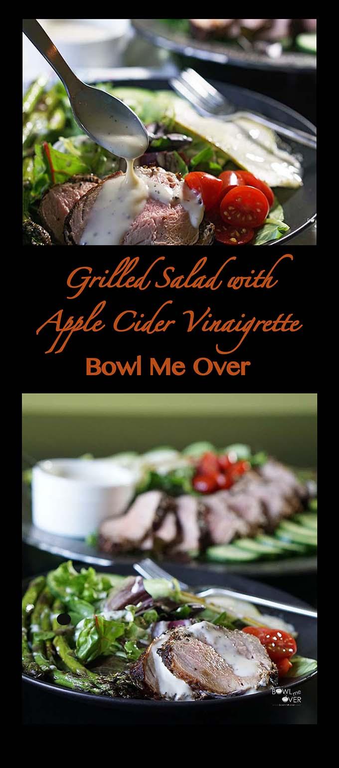 Grilled Salad with Apple Cider Vinaigrette
