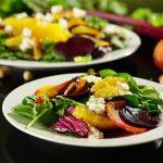 Roasted Beet Orange Salad with Pistachios.
