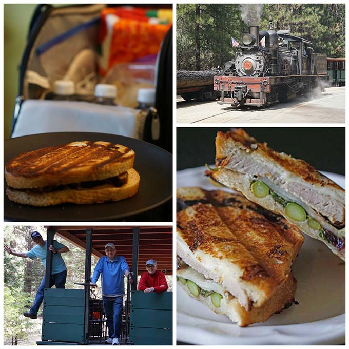Picnic is ready for our visit to the Sugar Pine Railroad!