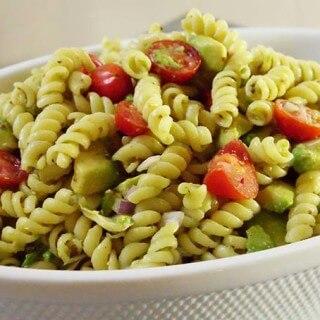 Artichoke Avocado Pasta Salad #MeatlessMonday