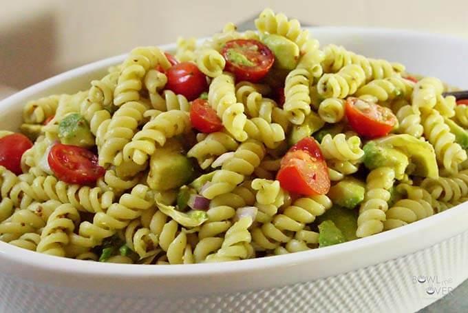 Artichoke Avocado Pasta Salad