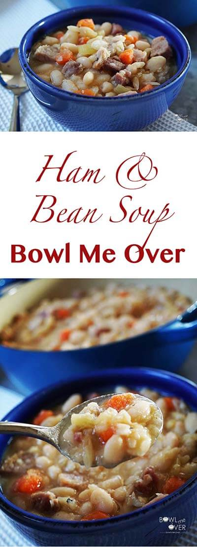 Ham and Bean Soup is one of the best! Slow cooking the beans makes them creamy and delicious. It's easy and affordable too!
