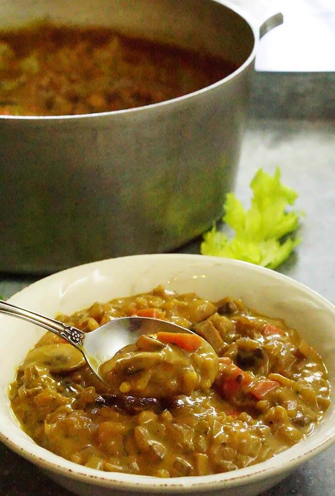 Mushroom Risotto Soup