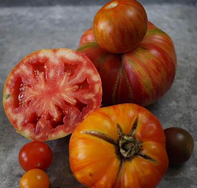 Heirloom tomatoes - none are perfect, but they are perfectly delicious!