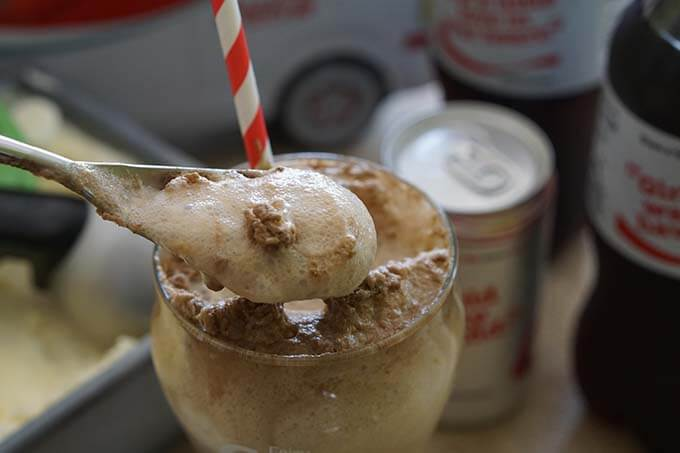 Homemade Vanilla Ice Cream Float