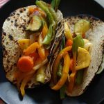 Yummy Vegan Tacos - lots of veggies sautéed until just crisp!