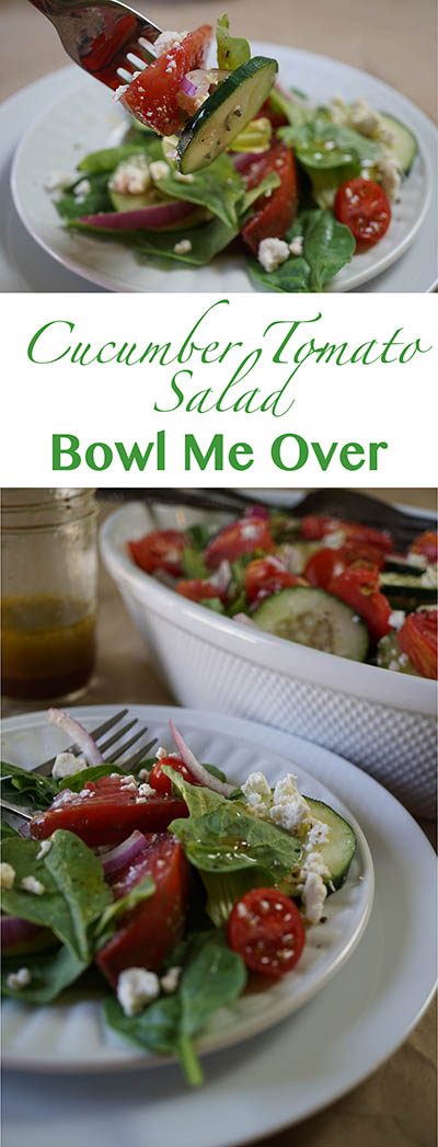 Cucumber Tomato Salad - perfect taste of summer! Bowl Me Over