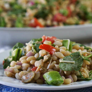 Mediterranean White Bean Salad #MeatlessMonday