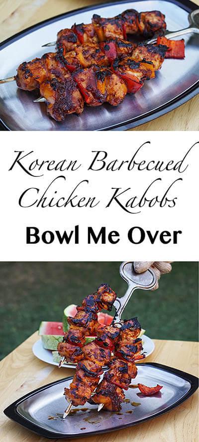 Korean Barbecued Chicken Kabobs
