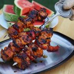 Korean BBQ Chicken Recipe on kabobs