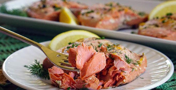 Easy Citrus Poached Salmon Recipe