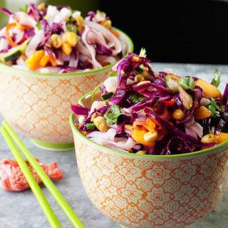 Spring Roll Noodle Salad #GlutenFree #Vegan
