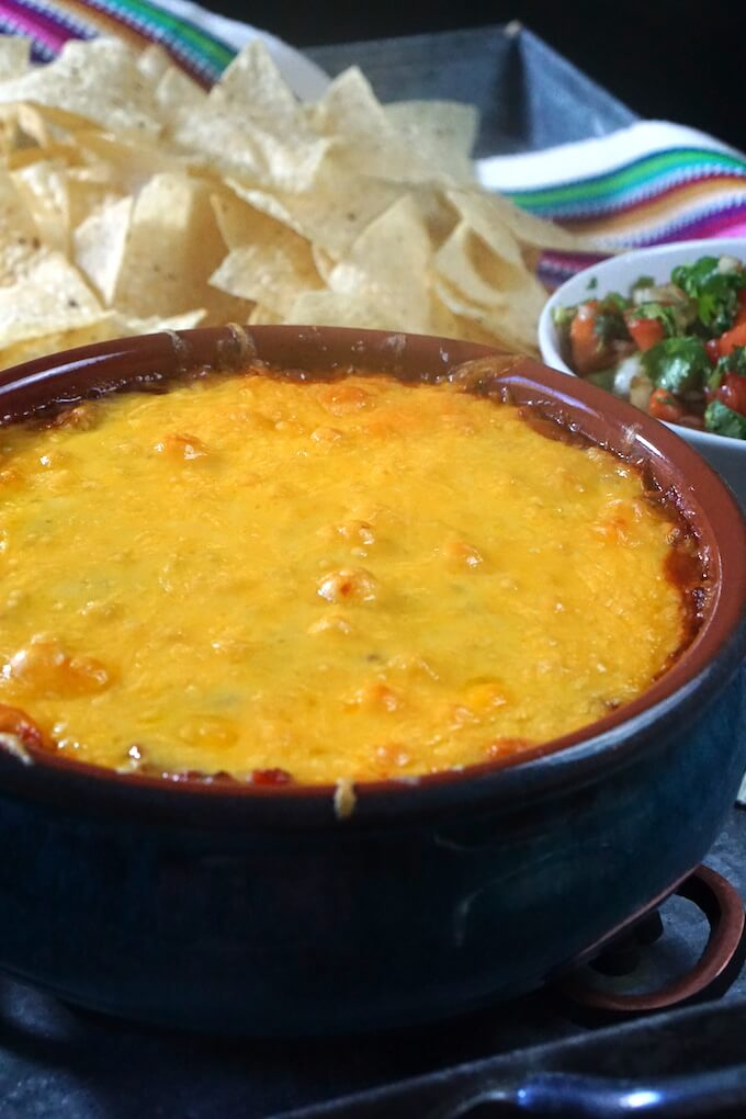 Easy Cheesy Salsa Bean Dip