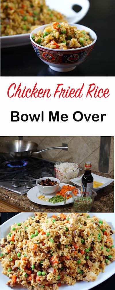 Why go out when you can make your favorite Chicken Fried Rice at home?  Easy and soo much better than take out!