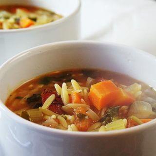 Vegetable Orzo Soup - Bowl Me Over