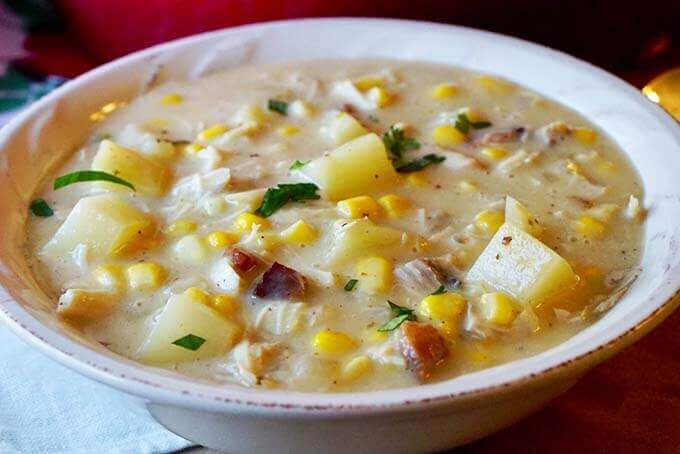 What to make for dinner? Turkey Corn Chowder of course!