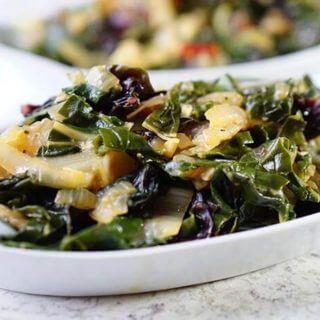 Garlicky Braised Chard – Vegetarian 30 Minutes
