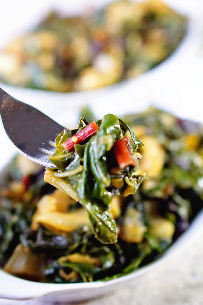 Thanksgiving Side Dishes - Swiss chard
