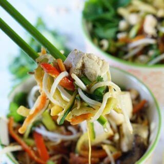 Low Carb Pad Thai Bowl