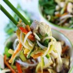Low Carb Pad Thai Bowl - Half the carbs and 100 times better than take out? Yes - you're going to love this low carb version of Pad Thai!