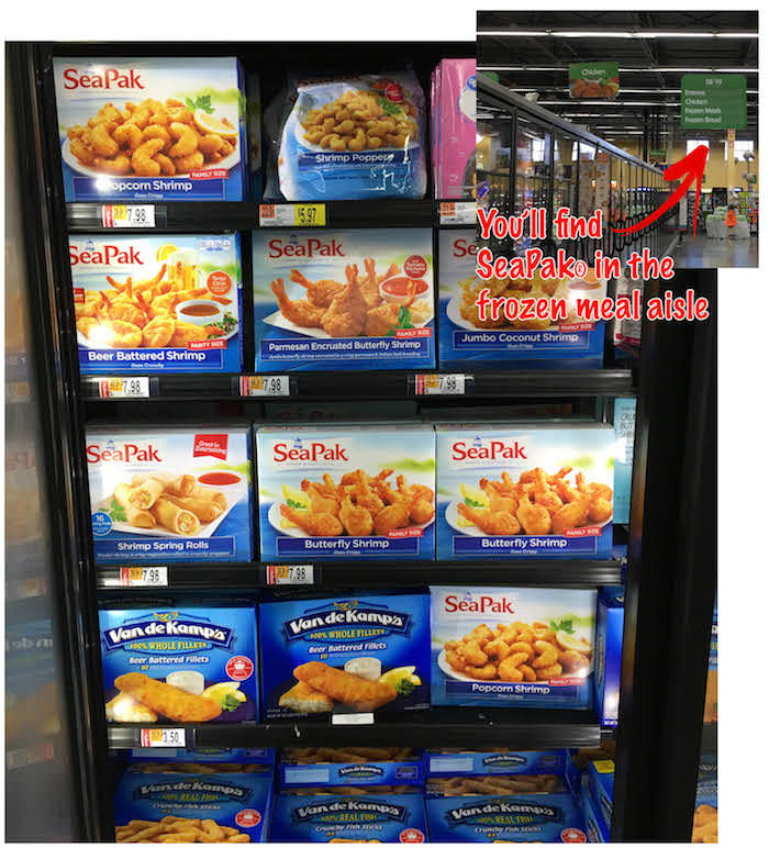 You'll find it here in the frozen food aisle.