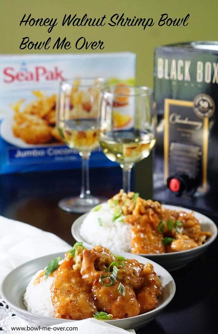 calories in panda express honey walnut shrimp bowl