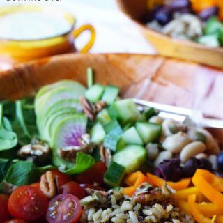 Easy Vegetarian Buddha Bowl with Creamy Lemon Vinaigrette
