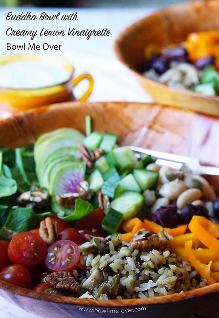 Easy Buddha Bowl recipe with Creamy Lemon Vinaigrette