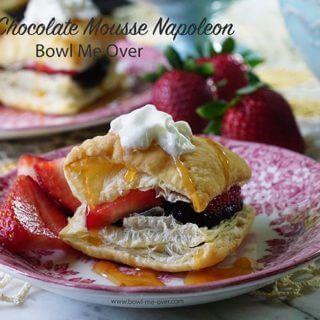 Dark Chocolate Mousse Napoleon Recipe