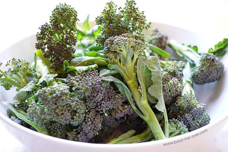 Fresh broccoli from the farmers market in March - gotta love that!