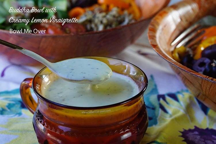 Creamy Lemon Vinaigrette has tons of flavor and none of the guilt!