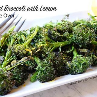 Roasted Broccoli with lemon is an easy side dish and completely delicious!