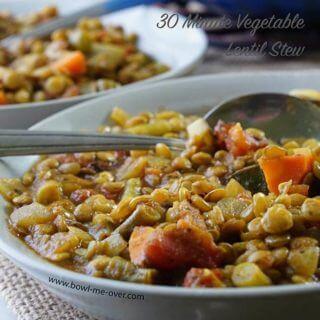 30 Minute Vegetable Lentil Stew – 30 Minute Meal