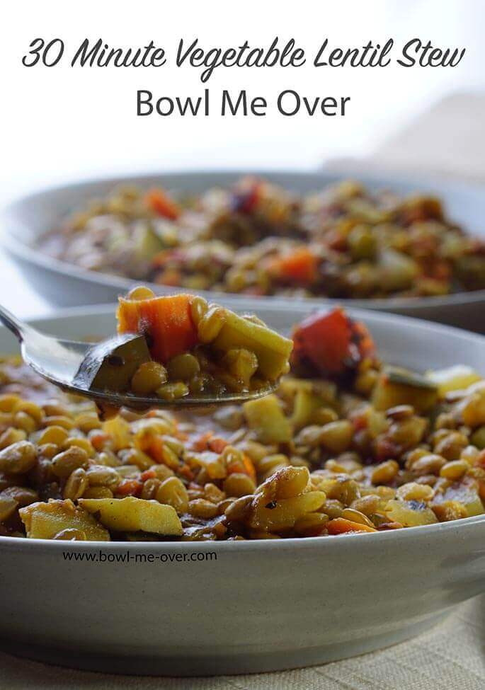Easy Vegetable Lentil Stew