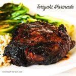 Beef Teriyaki Steak on white plate