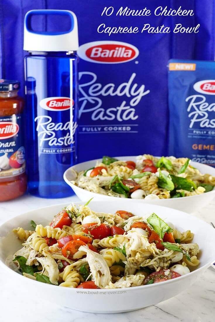 Easy pasta Chicken Caprese Pasta Bowl