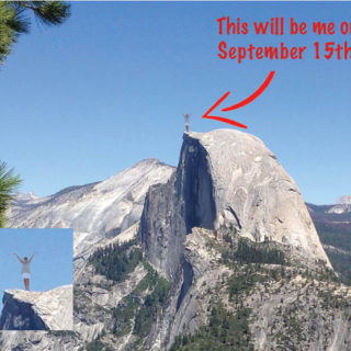 A photo of Half Dome in Yosemite Park