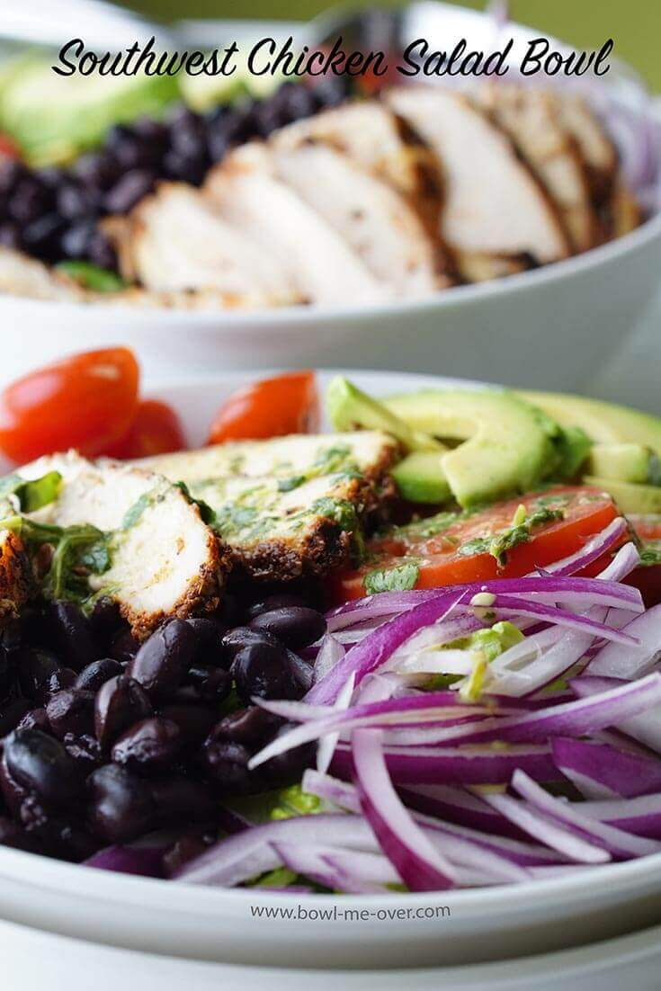 Pile the ingredients high in this yummy Chicken Salad Bowl!