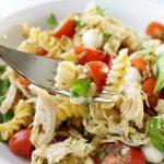 Chicken Caprese Pasta Bowl