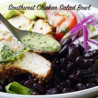 Southwest Chicken Salad Bowl with Cilantro Lime Dressing