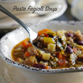 Pasta Fagioli Soup with Baby Bok Choy