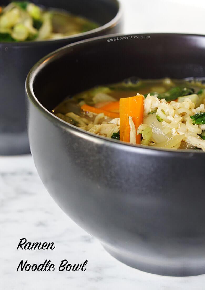 Easy delicious ramen bowl