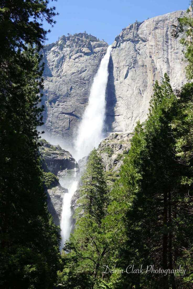 Spring runoff over Yosemite Falls in Yosemite National Park