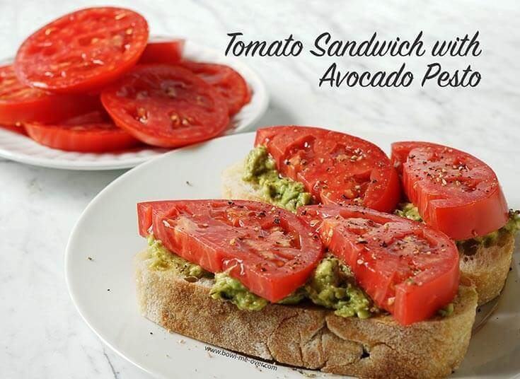 Meatless Monday Tomato Sandwich