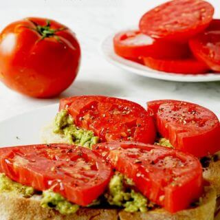 Tomato Sandwich with Avocado Pesto #Vegetarian